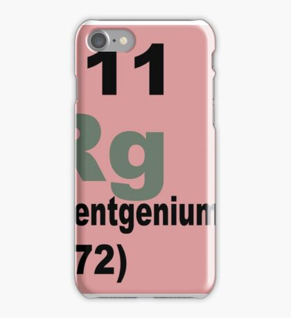 Roentgenium Periodic Table of Elements iPhone Case/Skin