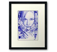 bic girl Framed Print