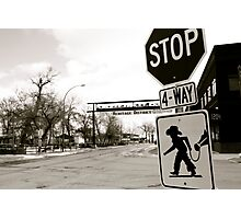 Cowboy Crossing  Photographic Print