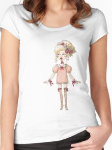 Little Antoinette Girly Child Women's Fitted Scoop T-Shirt