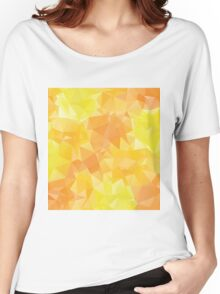 Yellow Orange Polygons2 Women's Relaxed Fit T-Shirt
