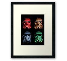 4 Heads Framed Print