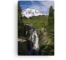 Myrtle Falls, Paradise, Mt. Rainier National Park Canvas Print
