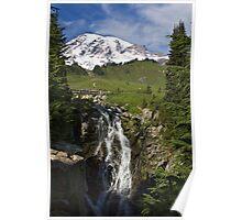 Myrtle Falls, Paradise, Mt. Rainier National Park Poster