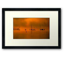 Crafts in Orange Framed Print