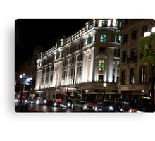 Oxford Street By Night Canvas Print