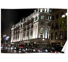 Oxford Street By Night Poster