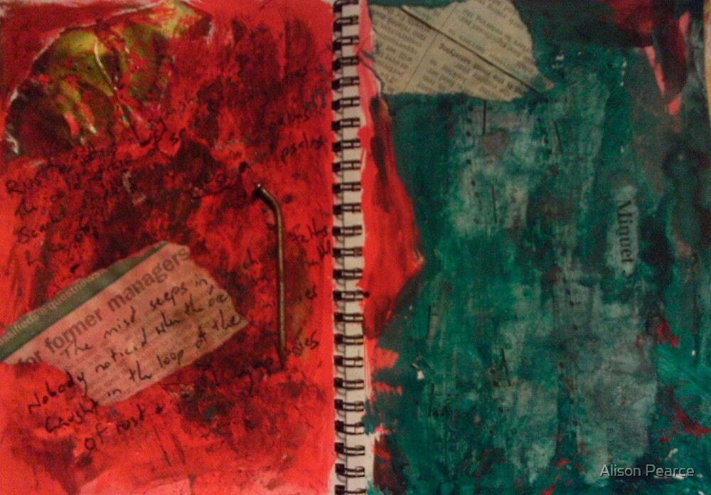 Rust and Jaded Symphonies -DisCo Journal pg2 by Alison Pearce