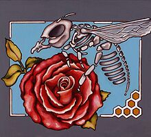Romeo Skeleton Bee by Valerie Anderson