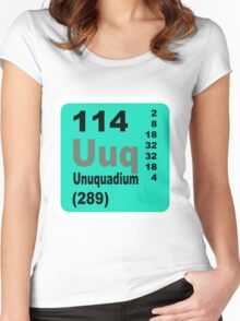 Flerovium Periodic Table of Elements Women's Fitted Scoop T-Shirt