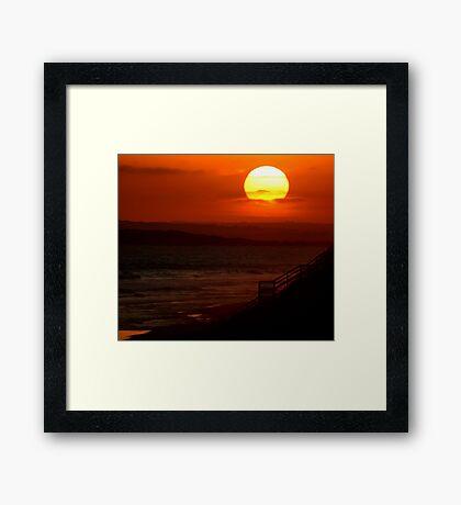 Sunset,13th Beach Framed Print