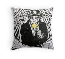 The Gold Doubloon (from Meditations on Moby Dick) Throw Pillow