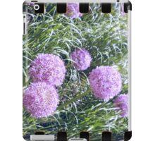 Purple flower analog photo with sprocket holes iPad Case/Skin