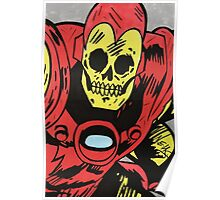 Skull Boy Iron Man Poster