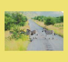 zebra crossing One Piece - Short Sleeve