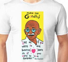 Mahatma Gandhi Pop Folk Art Unisex T-Shirt