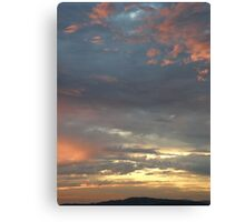 Coloured sky - Derry Ireland  Canvas Print