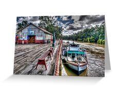 Port of Echuca Greeting Card