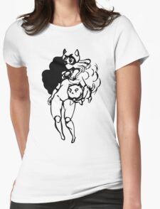 PuppyCat Womens Fitted T-Shirt