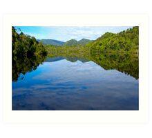 River Mirror - Gordon River, Tasmania Art Print