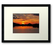 Pinnacle Mountain Sunset Framed Print