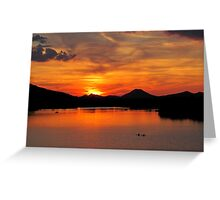 Pinnacle Mountain Sunset Greeting Card