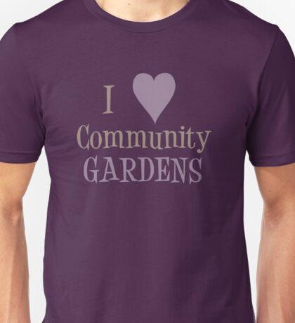 Community Garden Love Purple Unisex T-Shirt