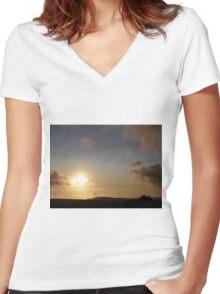 Grainin Dreams  Donegal Ireland Women's Fitted V-Neck T-Shirt