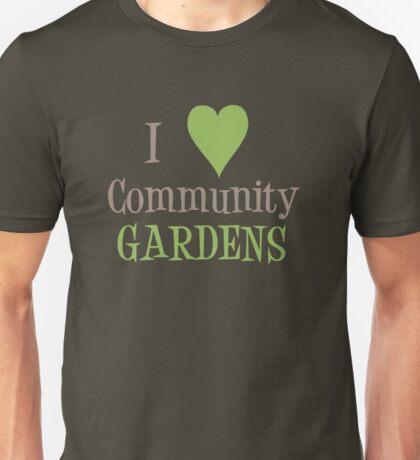 Community Garden Love Beige Unisex T-Shirt