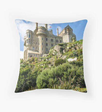 St Michaels Mount Castle Throw Pillow