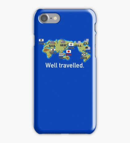 Well Travelled iPhone Case/Skin