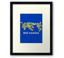 Well Travelled Framed Print