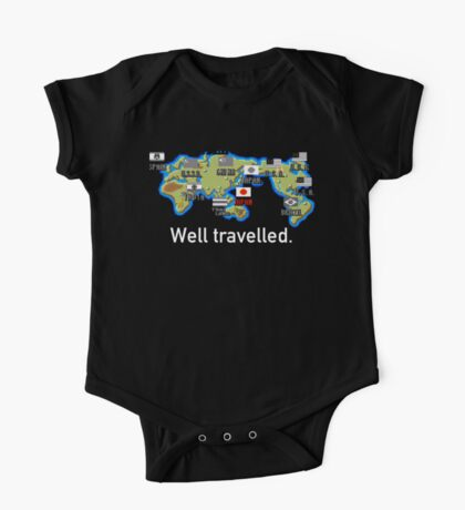 Well Travelled One Piece - Short Sleeve