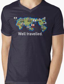 Well Travelled Mens V-Neck T-Shirt