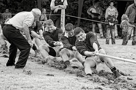 Encouragement, Irish national tug of war championship, New Ross County Wexford, Ireland by Andrew Jones