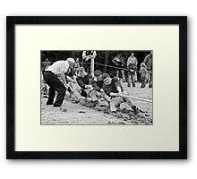 Encouragement, Irish national tug of war championship, New Ross County Wexford, Ireland Framed Print