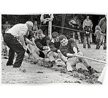 Encouragement, Irish national tug of war championship, New Ross County Wexford, Ireland Poster