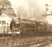 Duchess Of Sutherland sepia by TREVOR34