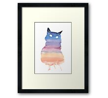 Twilight Cat Framed Print