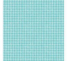 Blue Geometric Print Photographic Print