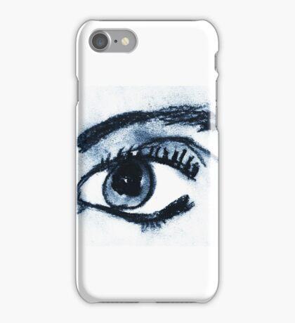 Black Chalk Pastel Art iPhone Case/Skin