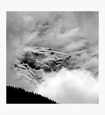 The Mont Blanc from Saint Gervais Photographic Print