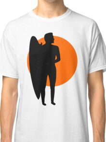 Surfer and a Setting Sun Classic T-Shirt