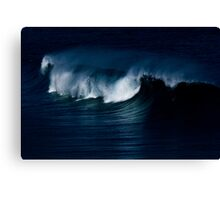 Wave Noir Canvas Print