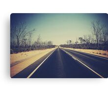 Give me a sign somewhere...Crossing the Nullarbor Plains Canvas Print