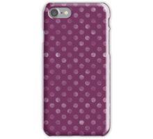 Purple Polka Dot iPhone Case/Skin