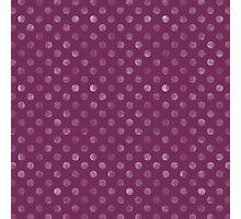 Purple Polka Dot Photographic Print