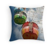 Ferris Carriages Throw Pillow