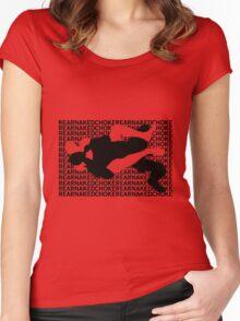 Jiu Jitsu MMA Rear Naked Choke Women's Fitted Scoop T-Shirt
