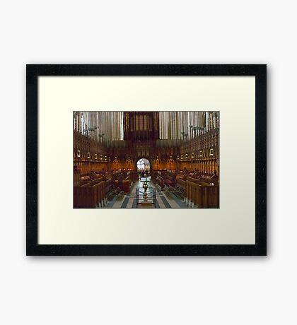 The Choir Stalls Framed Print